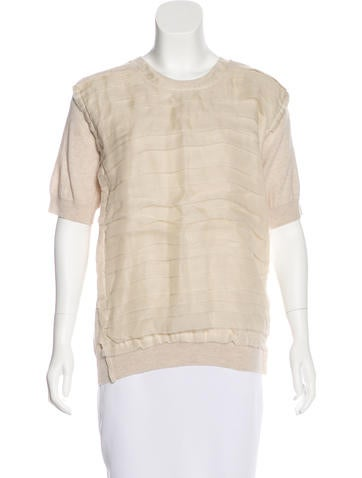 Lanvin Wool Short Sleeve Top w/ Tags None