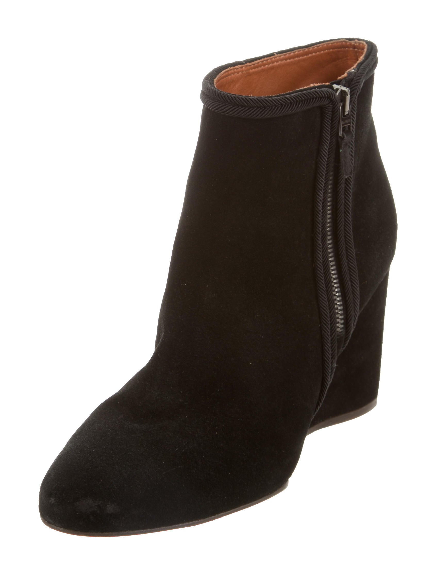 lanvin wedge ankle boots shoes lan62860 the realreal