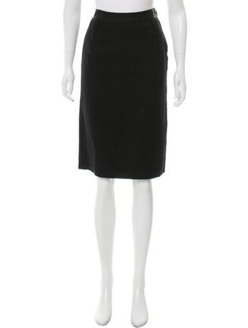 Lanvin Textured Pencil Skirt None