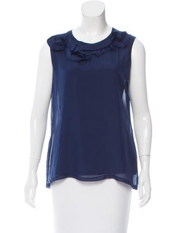 Lanvin Silk Sleeveless Top w/ Tags None