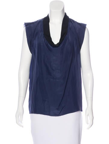 Lanvin Silk Sleeveless Top None