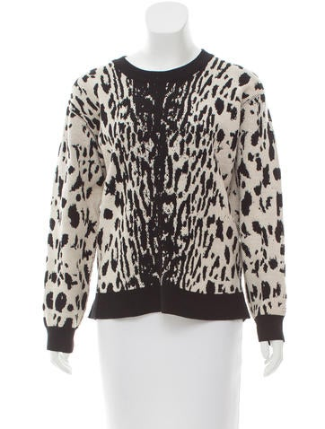 Lanvin Leopard Jacquard Wool Sweater None
