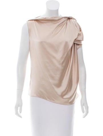 Lanvin Draped Silk Top w/ Tags None