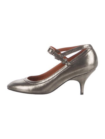 outlet with paypal Lanvin Metallic Round-Toe Pumps cheap sale with credit card IdB4nlod3t