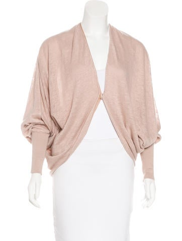 Lanvin 2015 Linen Draped Cardigan None