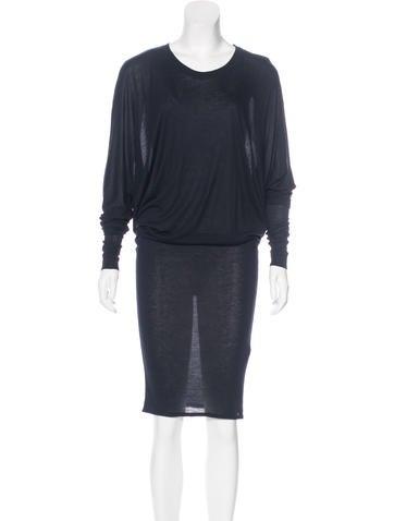 Lanvin Draped Midi Dress None