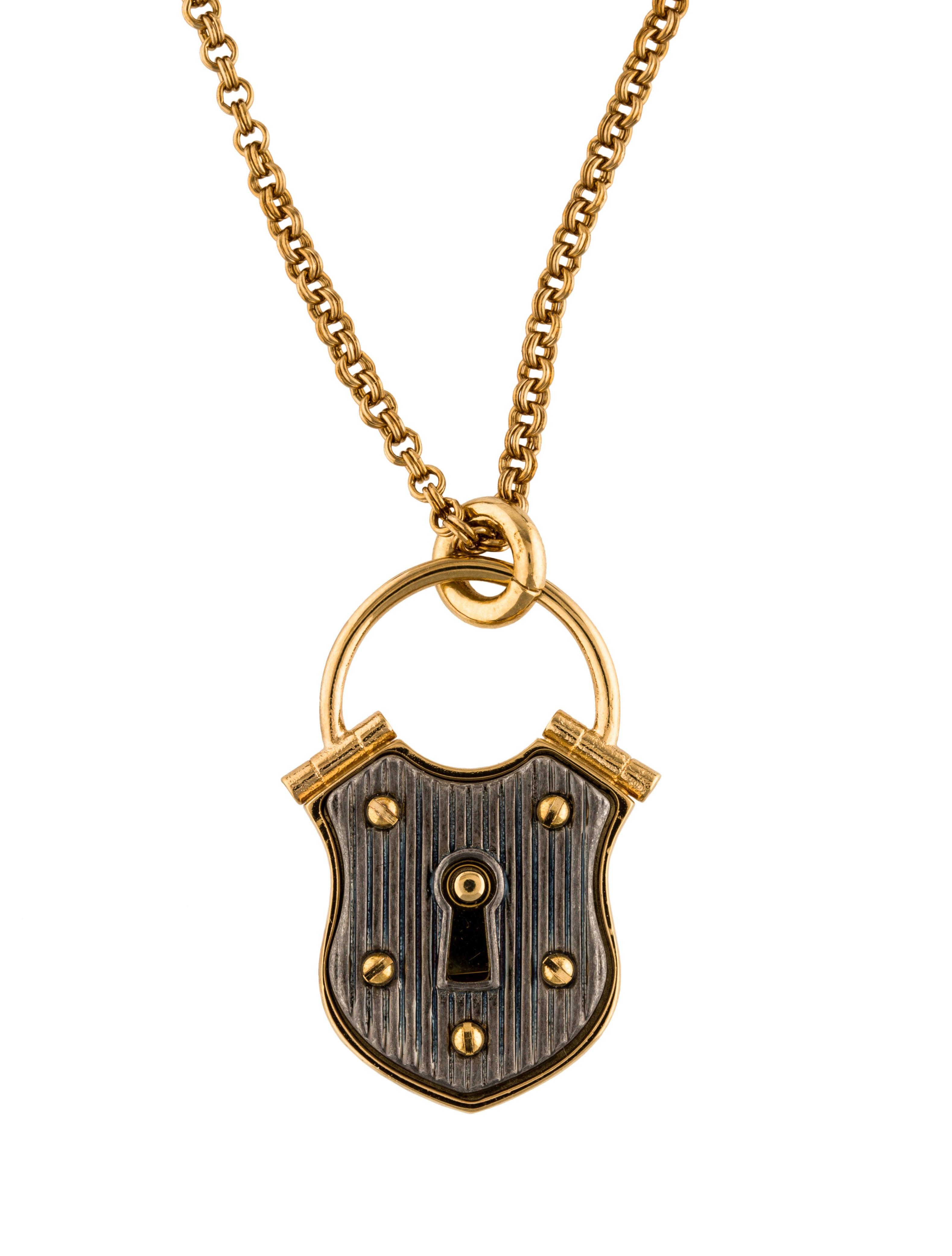 Lanvin Lock Short Pendant Necklace Necklaces Lan65287