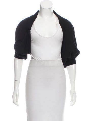 Lanvin Short Sleeve Open Front Shrug None