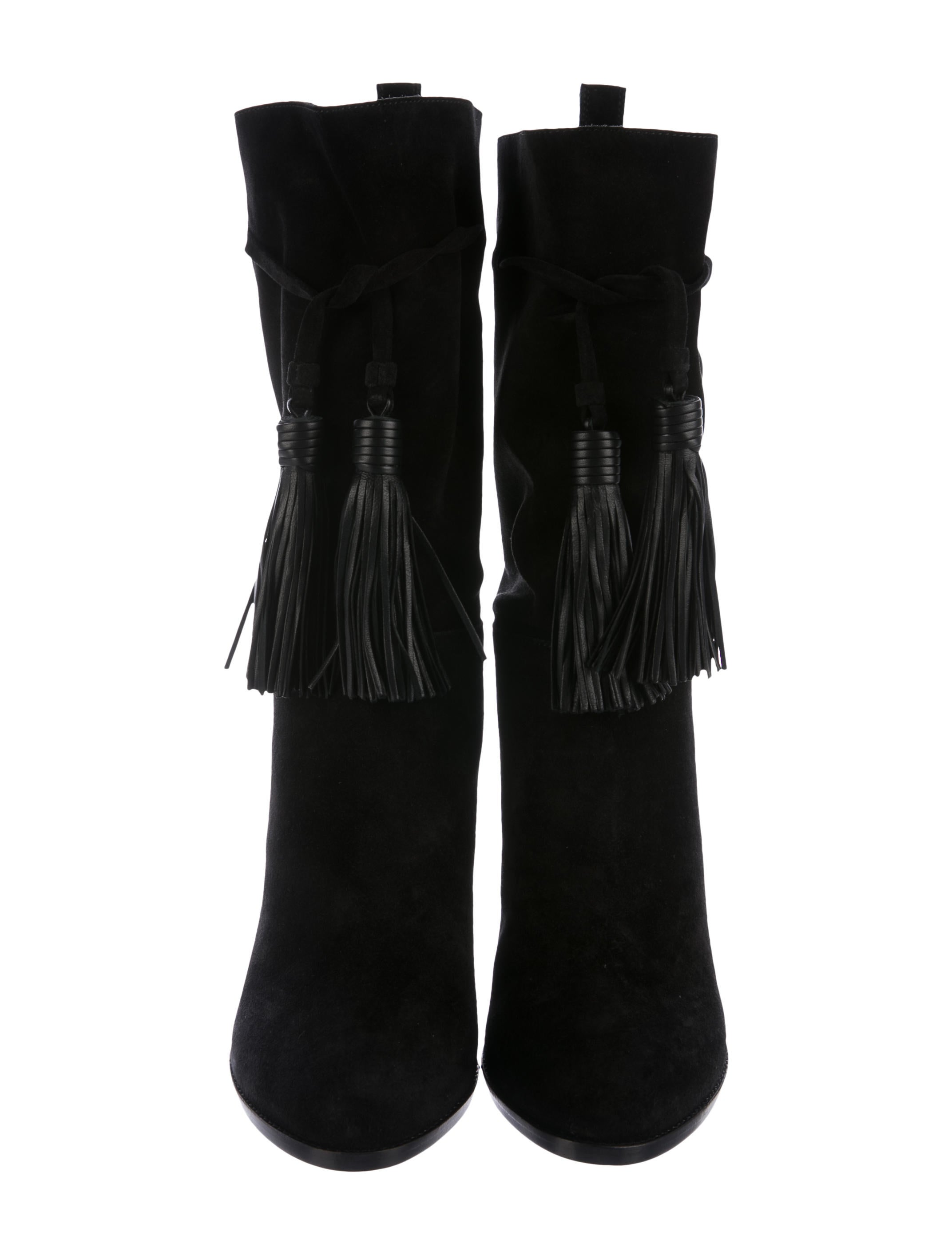 Lanvin Tassel-Accented Suede Boots w/ Tags looking for for sale UBexV74A