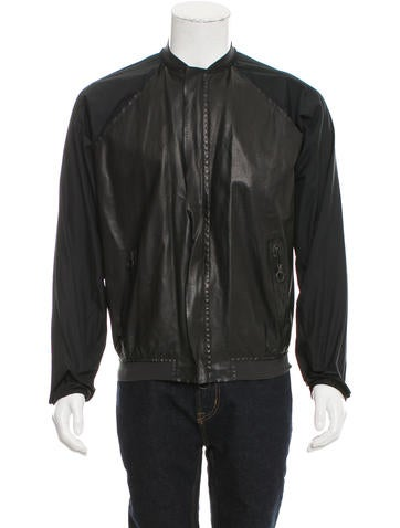 Lanvin Leather Bomber Jacket None