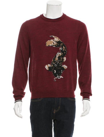 Lanvin Koi Pattern Wool Sweater None