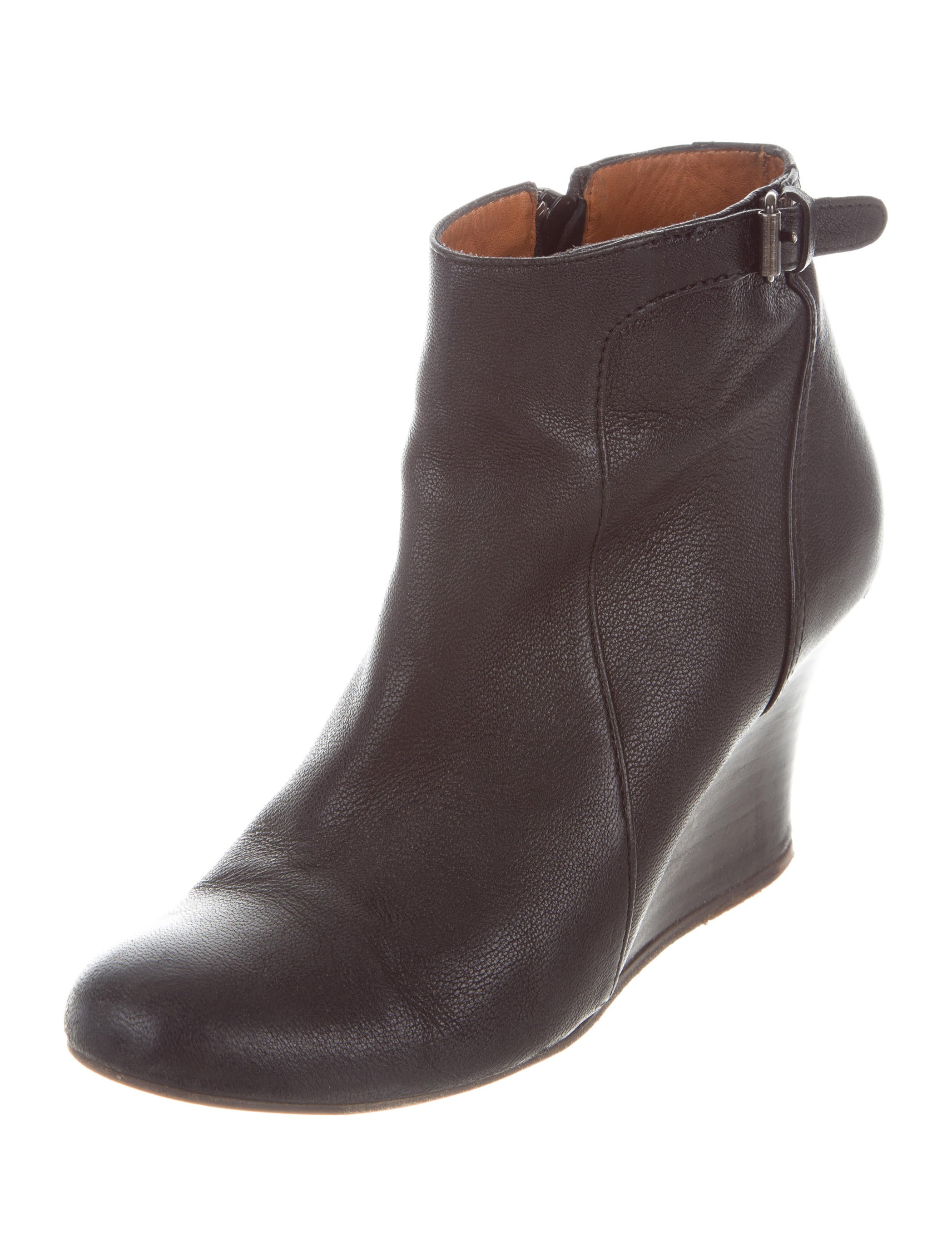 lanvin leather wedge ankle boots shoes lan65935 the