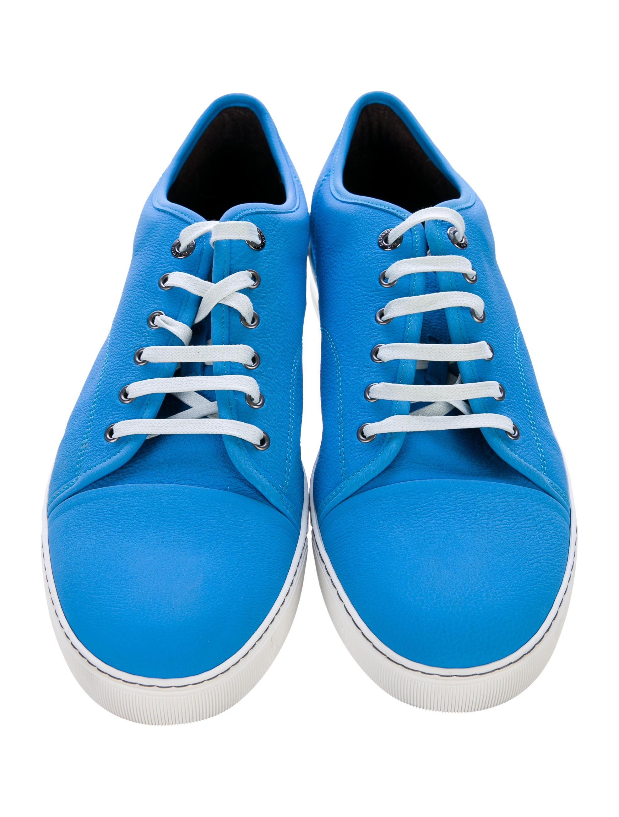Lanvin leather cap toe sneakers shoes lan66125 the for 66125 3