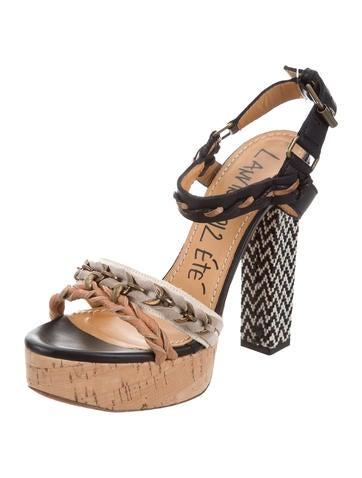 good selling Lanvin Chain-Link Platform Sandals lowest price best seller discount finishline yhuklE