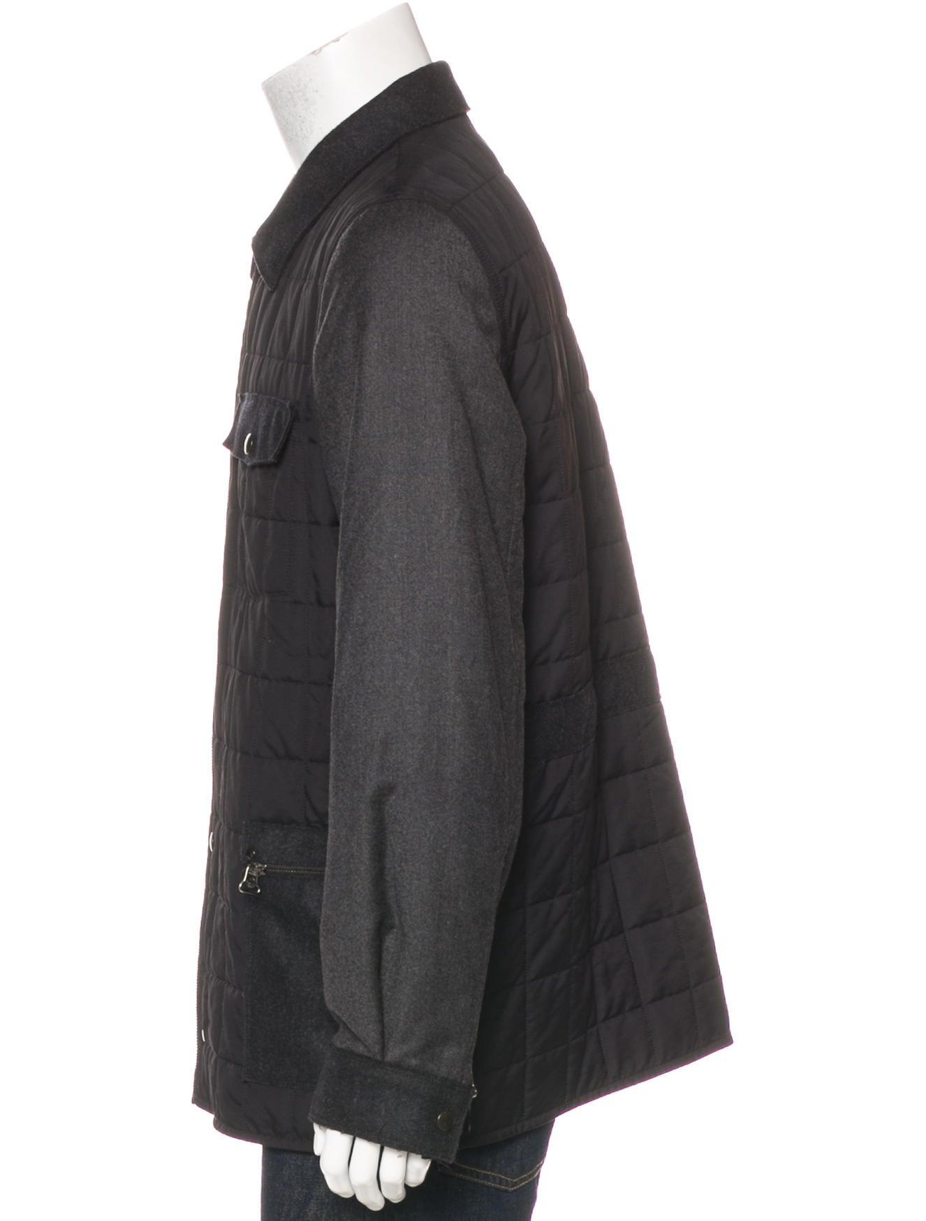 Lanvin Quilted Wool Blend Jacket Clothing Lan66746