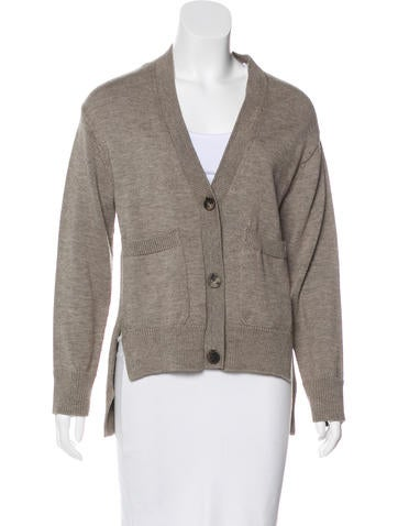 Lanvin Wool Button-Up Cardigan None