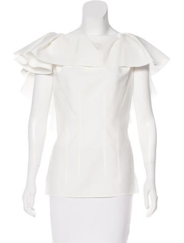 Lanvin Sleeveless Ruffled Top w/ Tags None