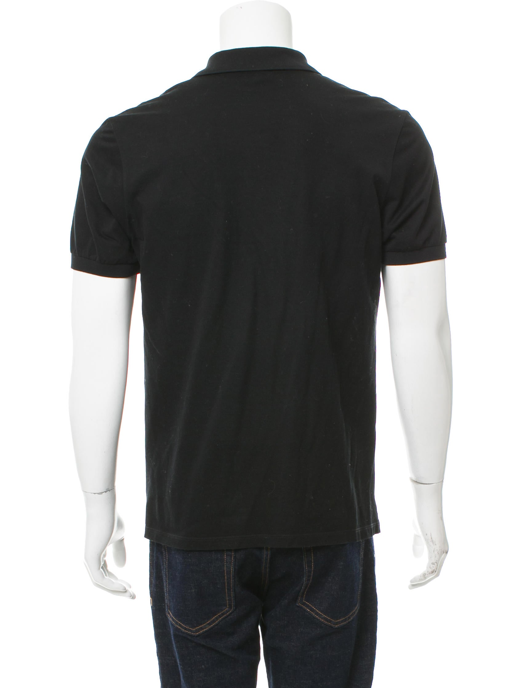 Lanvin Silk Accented Polo Shirt Clothing Lan67168