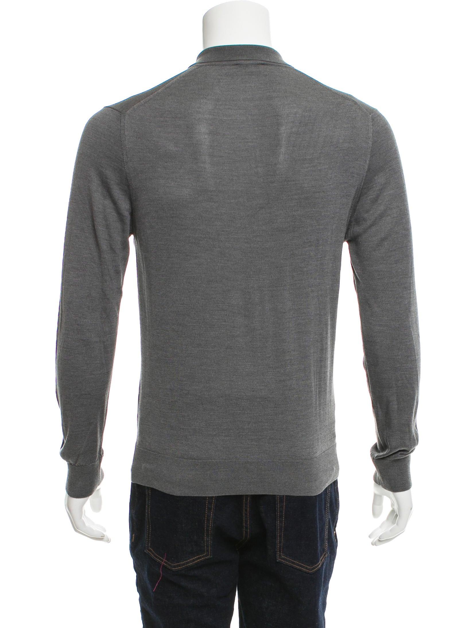 Lanvin Silk Polo Shirt Clothing Lan67616 The Realreal