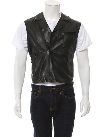 Lanvin Leather Moto Vest None