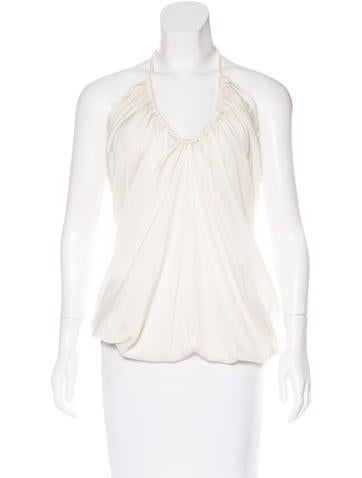 Lanvin Sleeveless Draped Blouse w/ Tags None