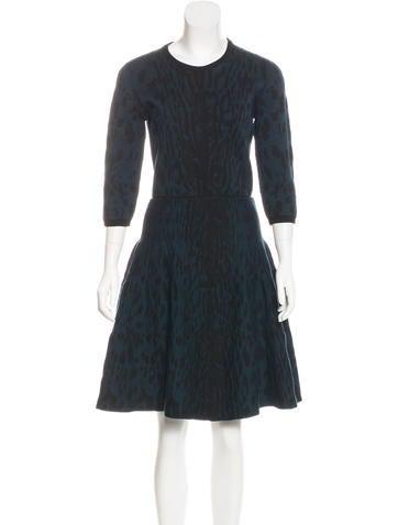 Lanvin Jacquard Midi Dress None