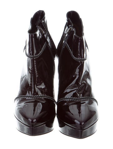 Lanvin Platform Patent Leather Ankle Boots w/ Tags