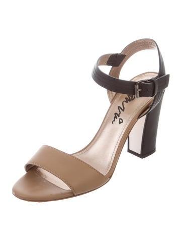 Lanvin Bicolor Leather Sandals limited edition cheap price cheap authentic outlet FTeY9epjWM