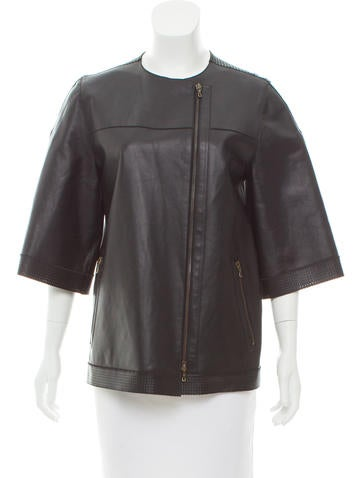 Lanvin Leather Perforated Jacket None