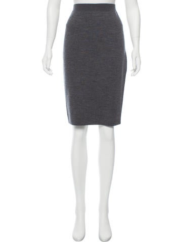 Lanvin Wool Pencil Skirt w/ Tags None