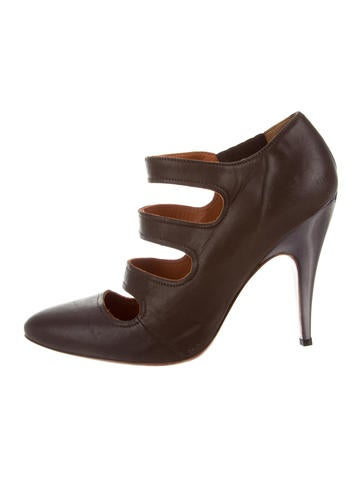 looking for for sale clearance best sale Lanvin Leather Cage Booties wholesale price sale online outlet footlocker pictures cheap sale Inexpensive FqtNkSf5eI