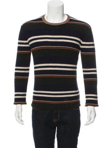 Lanvin Striped Wool Sweater None