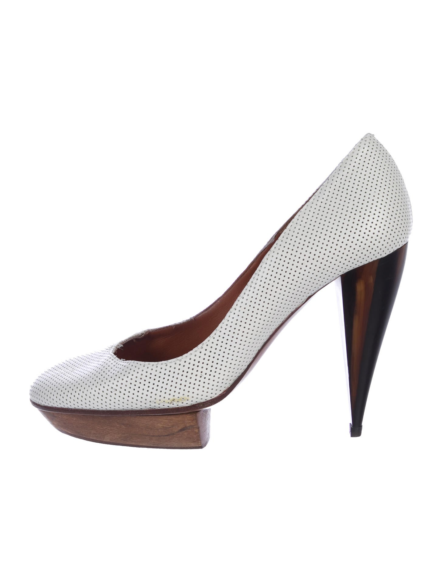 clearance great deals Lanvin Leather Perforated Pumps footlocker finishline cheap online free shipping get to buy uvQJpp2N