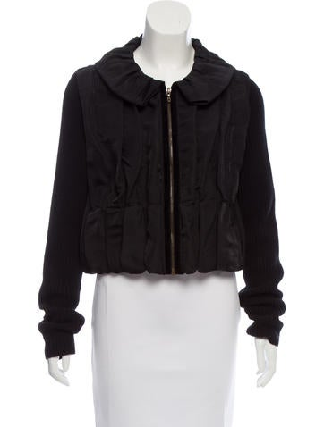 Lanvin Silk Knit-Trimmed Jacket None