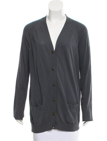 Lanvin Long Sleeve Button-Up Cardigan None