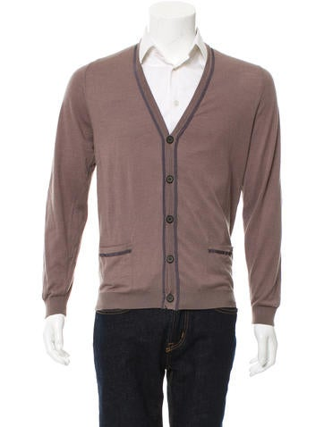 Lanvin Contrast Rib Knit Cardigan None