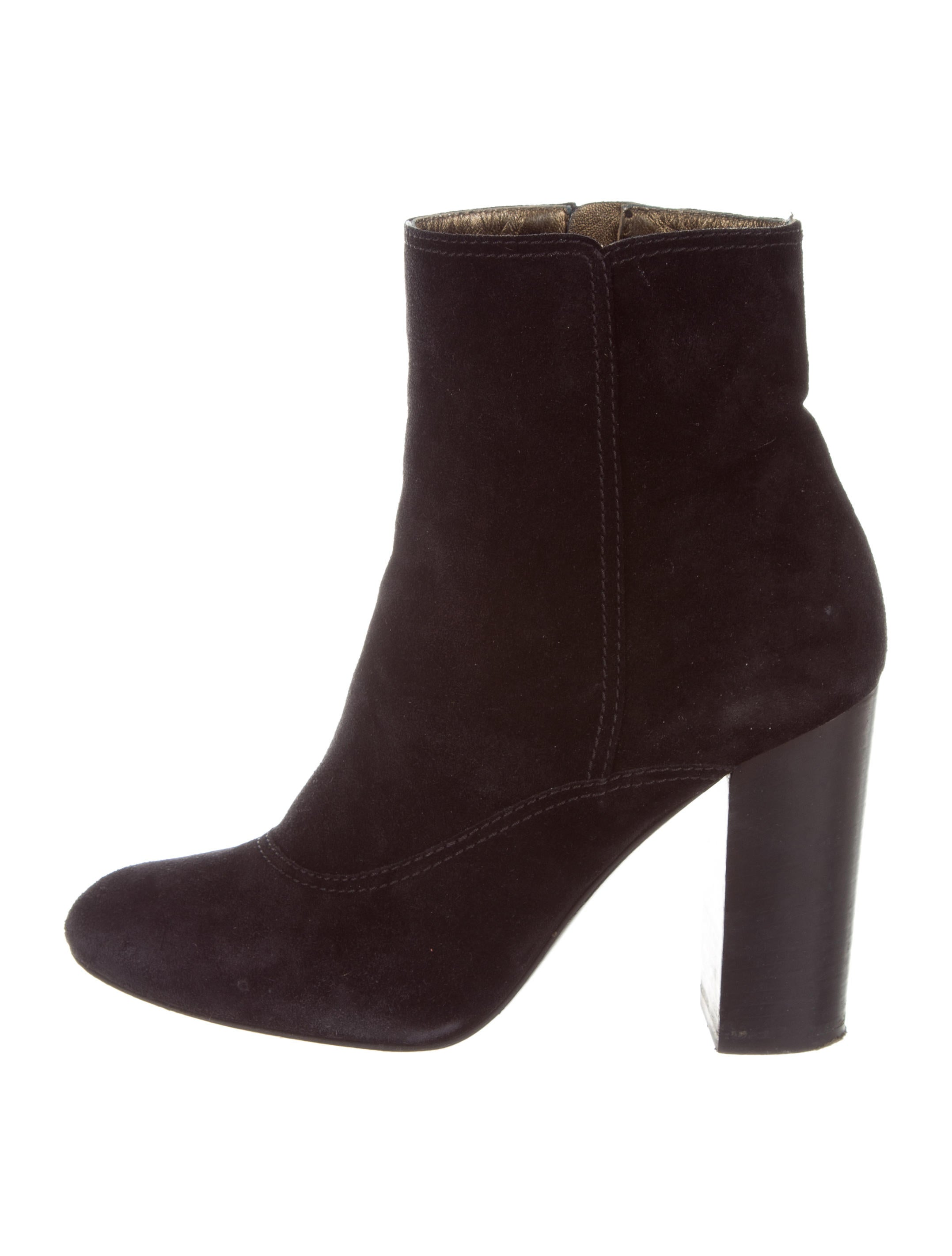 sneakernews online Lanvin Suede Pointed-Toe Booties buy cheap fake clearance cheap eJT76