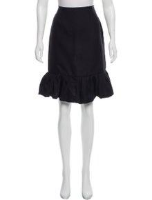 Lanvin Silk Knee-Length Skirt w/ Tags