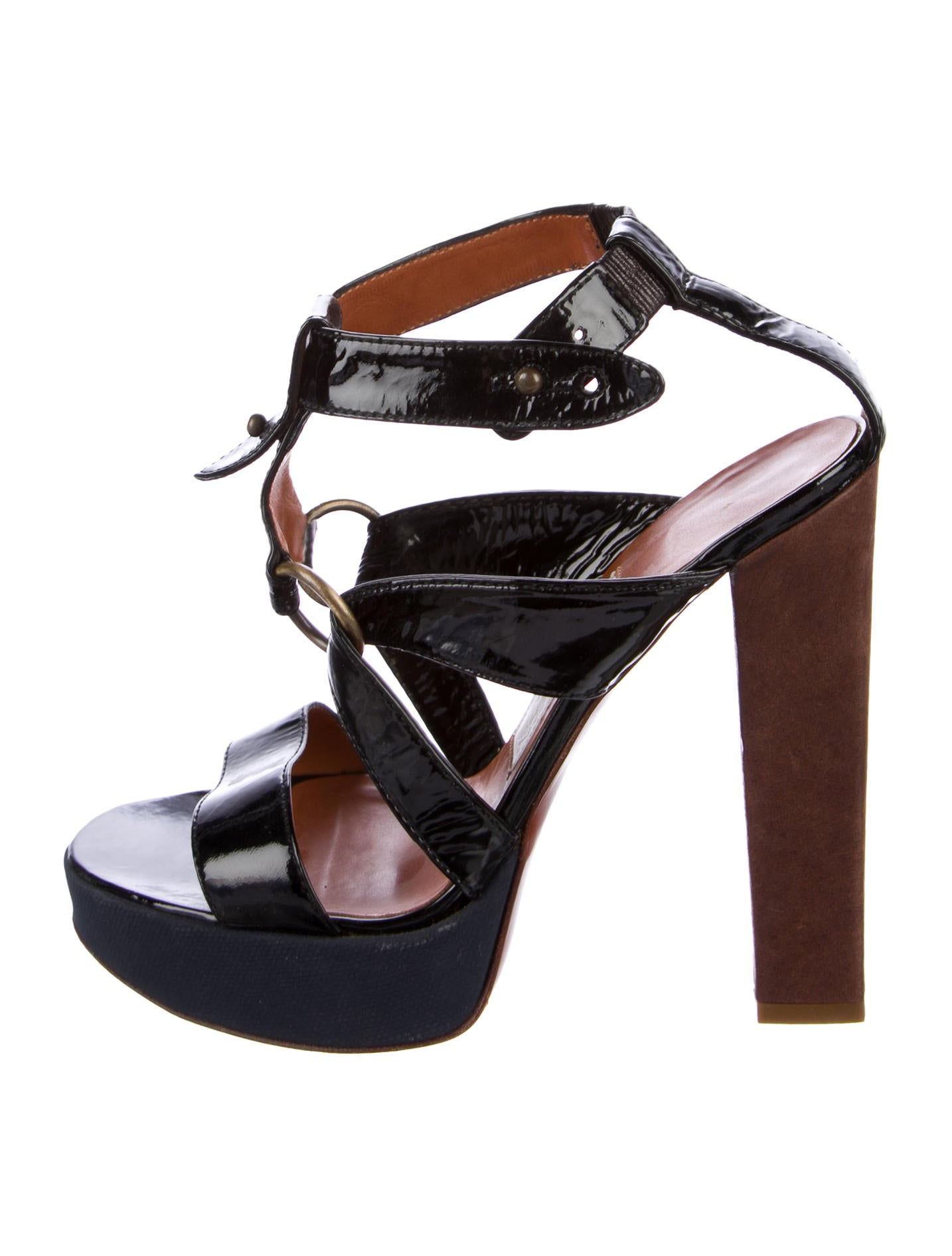 free shipping outlet ebay cheap price Lanvin Patent Leather Multistrap Sandals cheap sale pay with paypal marketable cheap price discount sale online PtV0J3bg1
