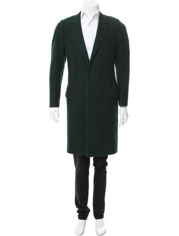 Lanvin Wool Notch Lapel Coat None