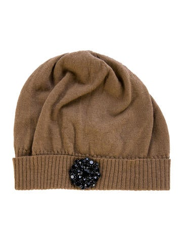 Lanvin Embellished Knit Beanie None