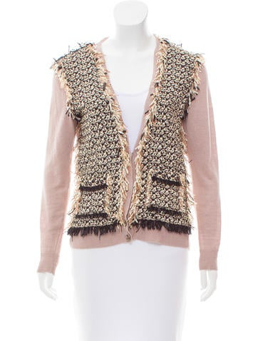 Lanvin Button-Up Linen Cardigan None