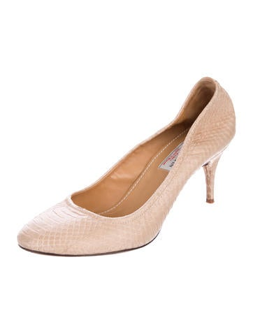 sale fashionable cheap original Lanvin Snakeskin Round-Toe Pumps sale browse looking for cheap price FKqEBawMTZ