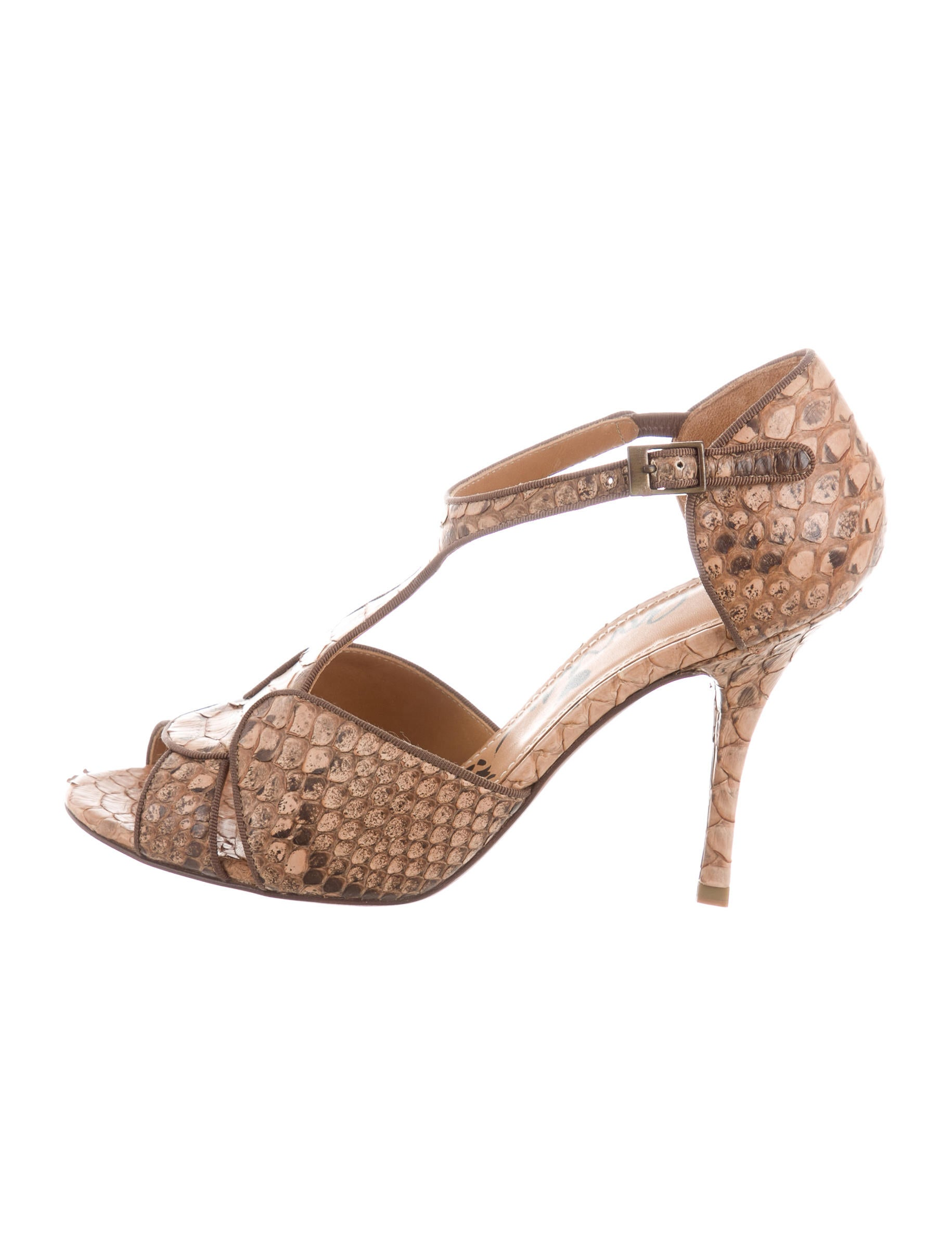 Lanvin Python T-Strap Pumps discount codes clearance store free shipping footlocker browse sale online iy3uu