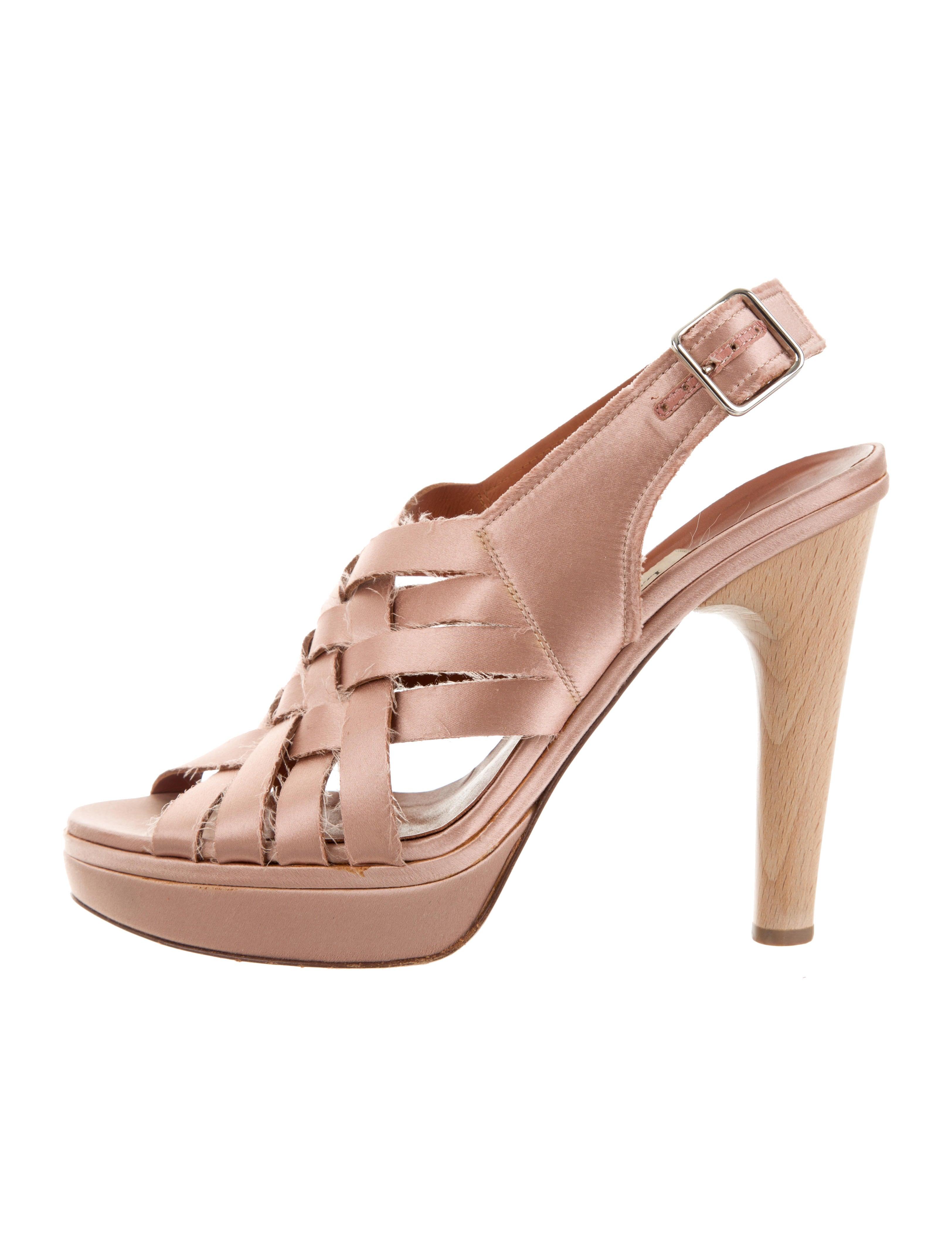 Lanvin Satin Crossover Sandals enjoy cheap price EucDxq5R