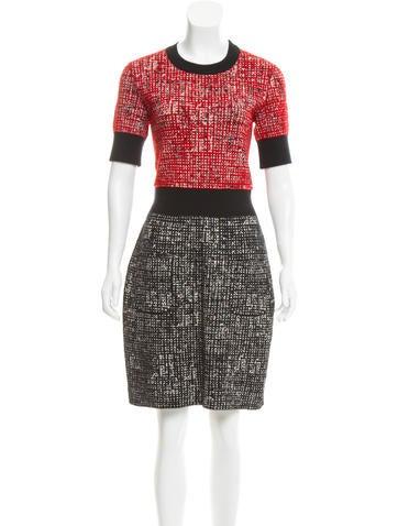 Lanvin Colorblock Jacquard Dress None
