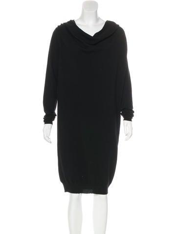 Lanvin Wool Knit Midi Dress None