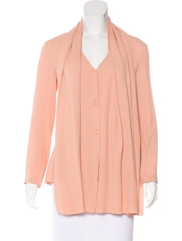 Lanvin Pleated Button-Up Top None