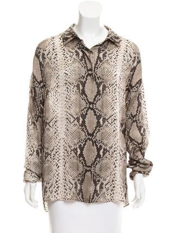 Lanvin Silk Button-Up Top None