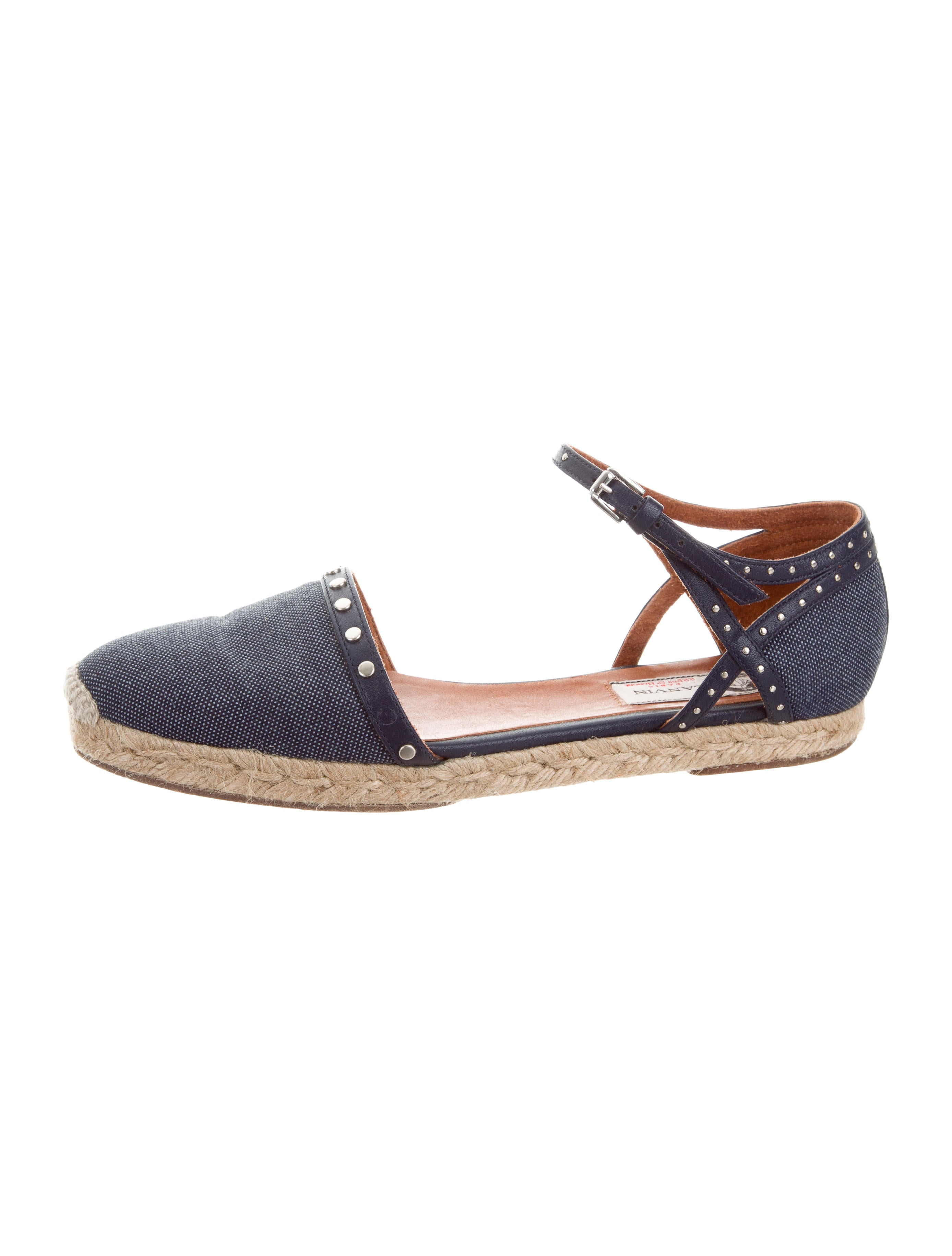 prices cheap online hot sale cheap online Lanvin Leather-Trimmed d'Orsay Espadrilles outlet where to buy 2GrEeD
